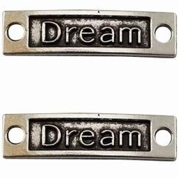 """Prachtige zilveren tussenzetsel """"Dream"""" 36 x 10 mm"""