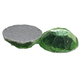 4 x Groene swarovski flatback 7 mm