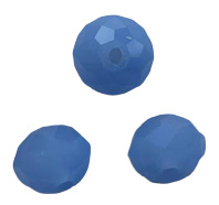 10 x Briolette top facet kristal kralen 6x4 mm gat 1 mm blauw paars