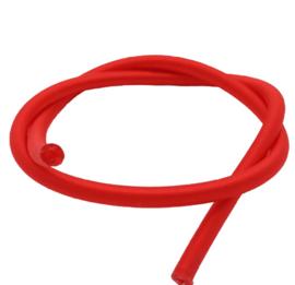 100 cm hol Rubber DQ koord 2mm per meter geknipt rood