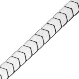 5 x Hematite kralen arrow Light grey  6×5 mm