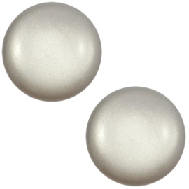 1 x 12 mm classic cabochon Super Polaris Ice grey