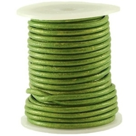 50cm VETER DQ Leer rond 3 mm Fern green metallic