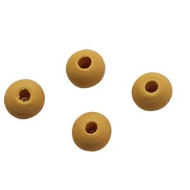 10 keer ronde houten kraal 8mm naturel