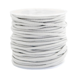 1 meter gekleurd elastisch draad van rubber voorzien van een laagje stof  2,5mm Beige grey