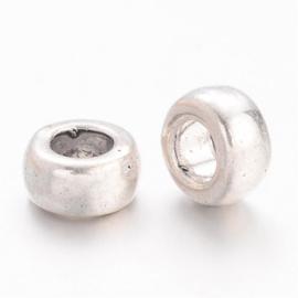 10 stuks tibetaans zilveren tussenzetsel kraal 6,5 x 3mm gat: 3mm