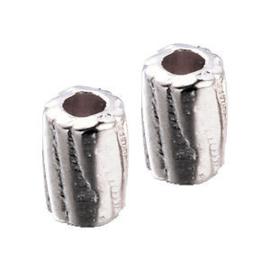 10 x DQ Metalen Kraal Zilver 4x3 mm