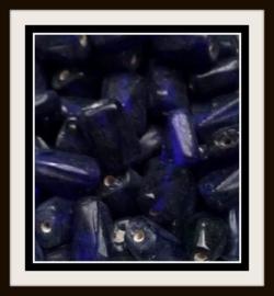 10 Stuks Glaskraal donker blauw grillig 13 mm