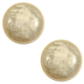 1 x 12 mm classic cabochon Polaris Elements Stardust Sand beige
