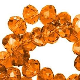 15 x Topfacet 8x6 mm Okergeel Oranje