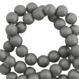 10 x half edelsteen kraal Hematite kralen rond 6mm mat Anthracite grey