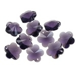 Prachtige kristal  facet Hanger bloem 13 x 13 x 8mm gat 1mm ametyst