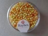 Rayher Rocailles Perlmutt 17 gram 2 mm mix oranje-geel