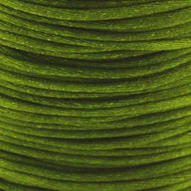 2 meter Macrame Satijndraad 1.0 Basil Green