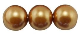 10 x prachtige glasparel kleur: Peru Gold 14mm