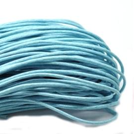 10 meter waxkoord 1,5mm dik kleur:  Light Blue