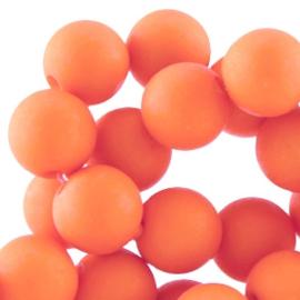 30 x 6mm Acryl kralen mat rond Pale Orange