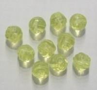 10 Stuks Glaskraal grillig rond transparant geel 9 mm