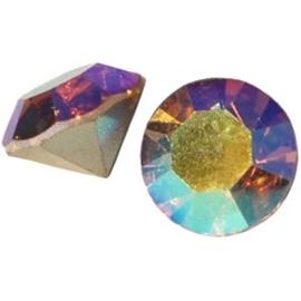 2 x Preciosa SS 29 puntsteen (6.2mm) Light colorado topaz AB