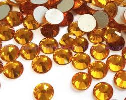 10 x Swarovski Amber plat strass steentje 5mm
