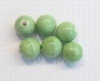 Per stuk Keramiek kraal rond Groen 12mm