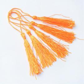 Satijn kwast lengte kwast 9 cm incl. lus 130 x 6mm pearl orange