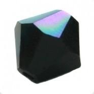 10 x Preciosa Kristal Bicone 8mm zwart AB