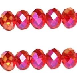 15 x Topfacet 8x6 mm Siam Rood Diamond