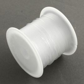 1 rol transparant nylon draad 0,8mm 8 meter per rol (Kies voor pakketpost)
