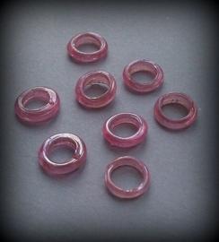 15 stuks acrylkralen ringetjes 11 x 4 mm gat: 7mm