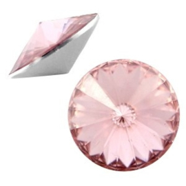 2 x Rivoli 1122 - 12 mm puntsteen Pale pink