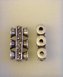 1x  verdeler 3-rij  verdeler  oudzilver zware kwaliteit