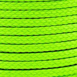1 meter sieradenkoord c.a. 5 x 3mm kleur Lime Green