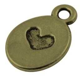 10 stuks Tibetaans zilveren bedeltjes 13 x 9 x 1mm gat: 1,5mm geel koper