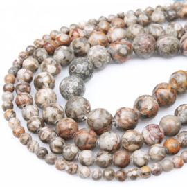 10 x Natuurlijke Maifan Stone Kralen 6 mm