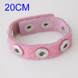 Armband pastel roze 20 cm