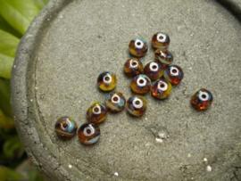 15 stuks prachtige gemstone donuts 4x7 mm