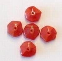 10 Stuks Glaskraal rondel rood 12 mm