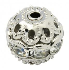 Verzilverde kristal ballen 8mm kristal