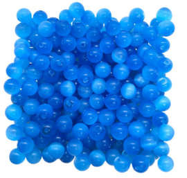 20x Cateye kralen Blauw 4 mm