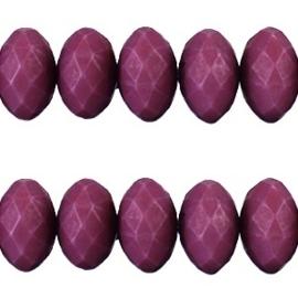 20 stuks Acryl facet kralen disc 6 x 4 mm Flint purple