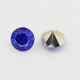 20 stuks Puntsteen Resin kunsthars SS12 c.a. 3,5mm Royal Blue