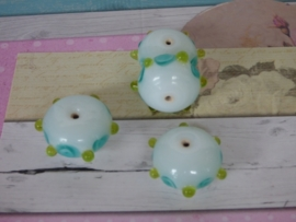 5 x High Quality Glass Hand Made Bead 102 afm. ca. 12 x 20mm