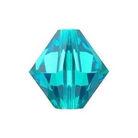 10 x Preciosa Kristal Bicone 8mm Blue Zircon
