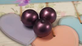 10 x glasparel  lila/paars 16 mm x 15 mm gat 1 mm
