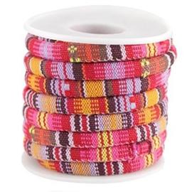 40 cm Aztec koord Rood geel 6x4 mm