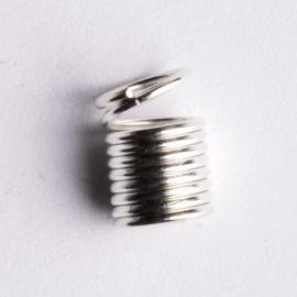 10 stuks metalen veer veterklemmen 9x 6mm Gat: 4,5mm