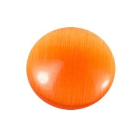 2 x Glas Cateye cabochon 14 mm dark orange