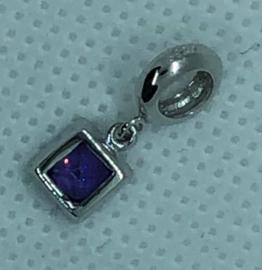 925 Sterling zilver hanger met bedel 17 mm x 4 mm. gat is 5 mm