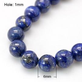 10 x  Kraal van Lapis Lazuli 6mm
